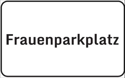 Bild von Hinweisschild Frauenparkplatz