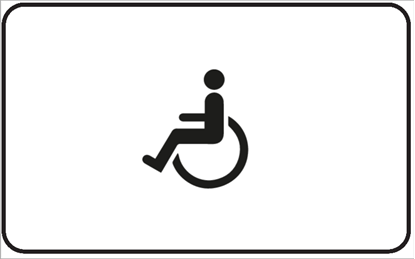 Bild von Hinweisschild Rollstuhl