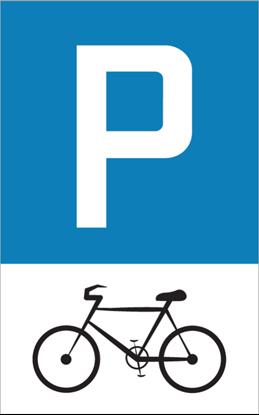 Bild von Parkplatzschild Fahrrad