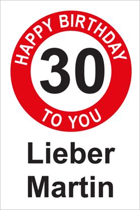 Bild von Geburtstagsschilder 30 Happy Birthday