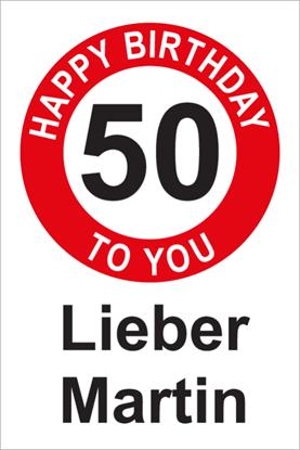 Bild von Geburtstagsschilder 50 Happy Birthday