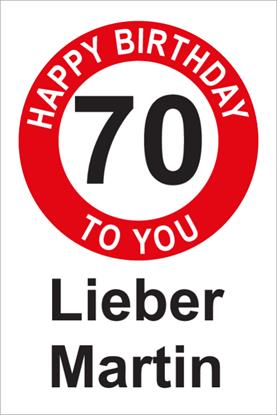 Bild von Geburtstagsschilder 70 Happy Birthday
