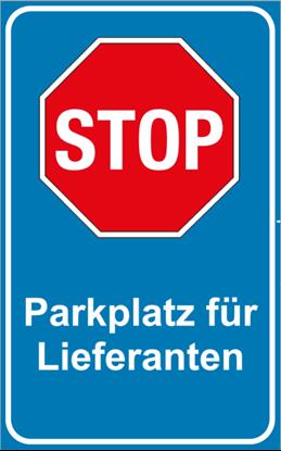 Bild von Parkplatzschild STOP Design