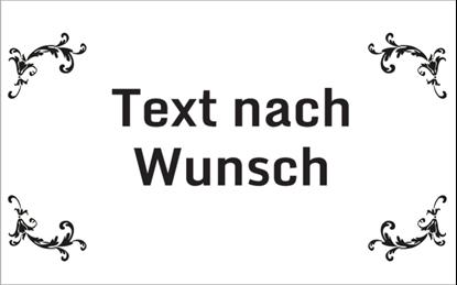 Bild von Hinweisschild Rahmen Text nach Wunsch
