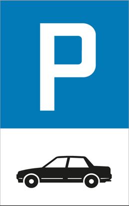 Bild von Parkplatzschild Auto