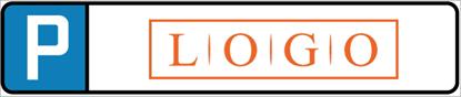 Bild von Parkplatzschild mit eigenem Logo