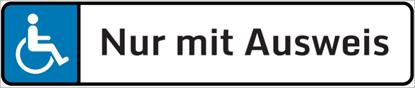 Bild von Parkplatzschild Nur mit Ausweis