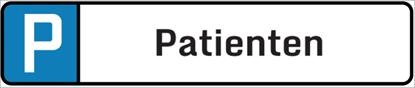 Bild von Parkplatzschild Patienten