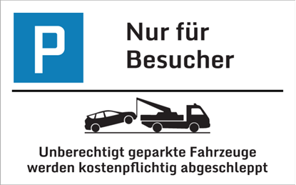 Bild von Parkplatzschild Besucher