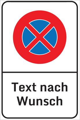 Bild von Halteverbotsschild Freitext CH XL