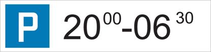 Bild von Parkplatzschild Zeitangabe