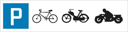 Bild von Parkplatzschild Zweirad