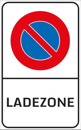 Bild von Parkverbotsschild Ladezone