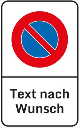 Bild von Parkverbotsschild Freitext