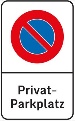 Bild von Parkverbotsschild Privatparkplatz