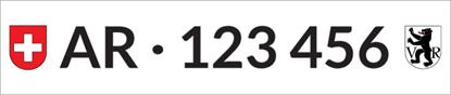 Bild von Nummernschild Individuell AR