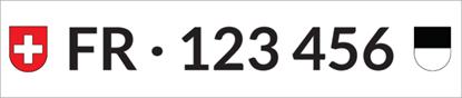 Bild von Nummernschild Individuell FR