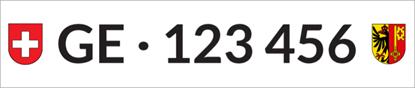 Bild von Nummernschild Individuell GE
