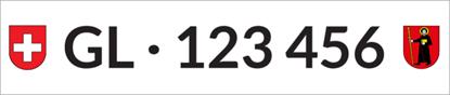 Bild von Nummernschild Individuell GL