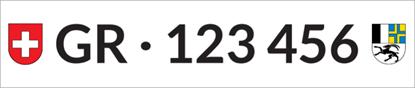 Bild von Nummernschild Individuell GR