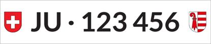 Bild von Nummernschild Individuell JU