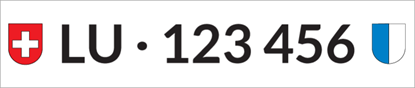 Bild von Nummernschild Individuell LU
