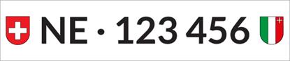 Bild von Nummernschild Individuell NE