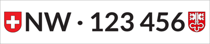 Bild von Nummernschild Individuell NW