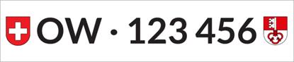 Bild von Nummernschild Individuell OW