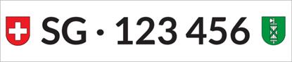 Bild von Nummernschild Individuell SG