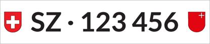 Bild von Nummernschild Individuell SZ