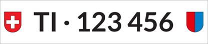 Bild von Nummernschild Individuell TI