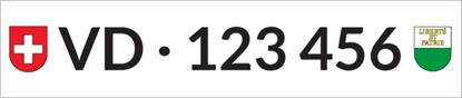 Bild von Nummernschild Individuell VD