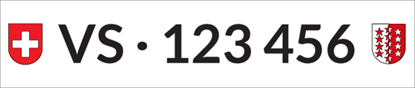 Bild von Nummernschild Individuell VS