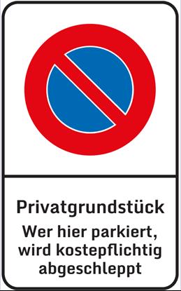 Bild von Parkverbotsschild Privatgrundstück