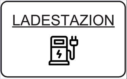 Bild von Hinweisschild Ladestation