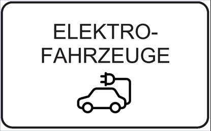 Bild von Hinweisschild Elektrofahrzeuge